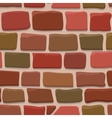 Seamless texture of a cartoon brick wall vector image vector image