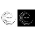 set halftone vortex circle frame dots logo vector image vector image