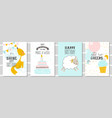 set of birthday greeting cards and party vector image vector image