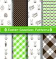 set scrapbook easter seamless patterns vector image vector image