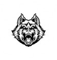 silhouette wolf clipart vector image vector image