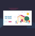 smart way home landing page children playing vector image vector image