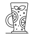 smoothie icon outline style vector image vector image