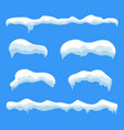 snow ice icicle set vector image