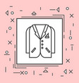 suit jacket icon thin line in pink frame vector image vector image