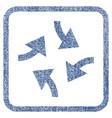 swirl arrows fabric textured icon vector image vector image