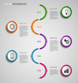 Time line info graphic colored round design vector image vector image
