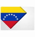venezuelan flag design background vector image vector image