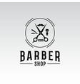 vintage barbershop emblems and labels vector image