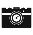 vintage camera icon simple style vector image vector image