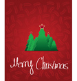 christmas tree with star - greeting card vector image
