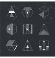 Set of geometric shapes Trendy hipster background vector image