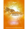Summer is waiting you Party poster with palm leaf vector image