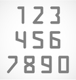 Abstract digital geometric numbers set vector image vector image