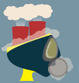 abstract head of poisonous air from burner reactor vector image