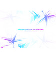abstract polygonal background with connected lines vector image