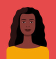 african american woman avatar on red vector image vector image