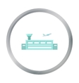 Airport icon cartoon Single building icon from vector image vector image
