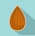 almond in shell icon flat style vector image vector image