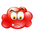 Angry face on red cloud vector image vector image