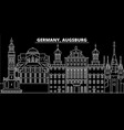 augsburg silhouette skyline germany - augsburg vector image vector image