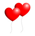 ballon heart for valentine days red color vector image