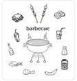 Barbecue icon doodle set vector image