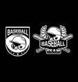 baseball all star team badge logo emblem template vector image vector image