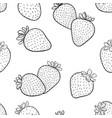beautiful seamless pattern cartoon black vector image vector image