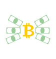 bitcoin and dollar exchange business icon vector image vector image