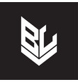 bl logo monogram with emblem shield style design vector image vector image