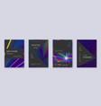 black brochure design template set rainbow abstra vector image vector image