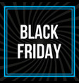 black friday promotional banner vector image