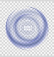 blue circle on light background wave vector image