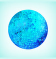 blue discoball template vector image