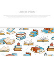 bright books sketch banner design for shop vector image