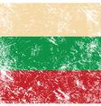 Bulgaria retro flag vector image vector image