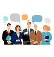 business team talk vector image vector image