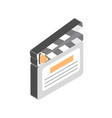 cartoon colorful open clapperboard graphic vector image