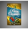 Christmas Poster background with blurred vector image vector image