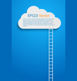 cloud and ladder vector image