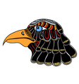 Color Eagle head vector image vector image