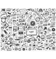 computer games - doodles collection vector image vector image