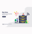 concept big data modern conceptual for banner vector image vector image