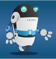 cyborg with hands and face robot or humanoid vector image