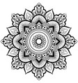 decorative ornament in ethnic oriental style vector image vector image