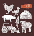 farm set hand drawn vector image vector image