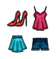 female fashion clothes icon vector image