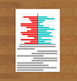 file with chart on table vector image vector image