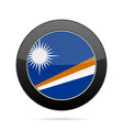flag of marshall islands shiny black round button vector image vector image